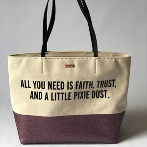 NWOT Kate Spade Disney Pixie Dust tote